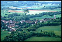 Countryside seen from the hill of Vezelay. Burgundy, France (color)