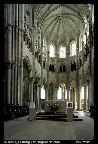 Apse of the Romanesque church of Vezelay. Burgundy, France (color)
