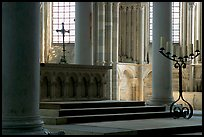 Altar inside of church of Vezelay. Burgundy, France (color)