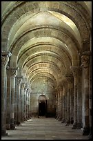 Aisle in the church of Vezelay. Burgundy, France ( color)
