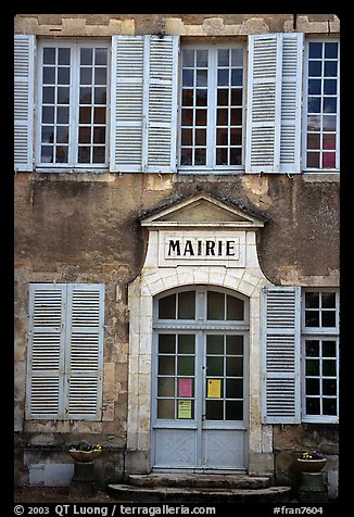 Mairie (town hall) of Vezelay. Burgundy, France (color)