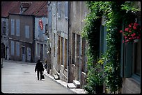 Main street of the Hill of Vezelay. Burgundy, France ( color)