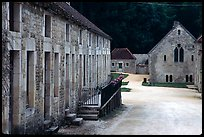 Abbaye de Fontenay, late afternoon (Fontenay Abbey). Burgundy, France ( color)