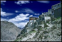 Perched monastary, Ladakh, Jammu and Kashmir. India (color)
