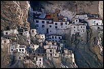 Phugtal gompa, Zanskar, Jammu and Kashmir. India (color)