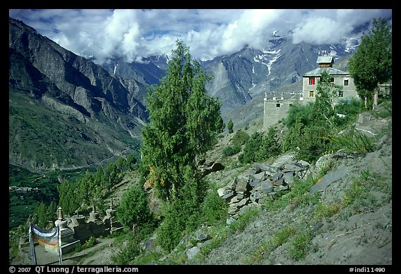 Monestary, Lahaul, Himachal Pradesh. India (color)