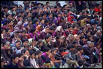 Crowd watching a performance, Keylong, Himachal Pradesh. India (color)