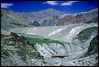 Multi colored mountains, Zanskar, Jammu and Kashmir. India ( color)