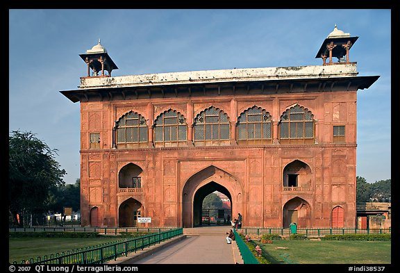 Naubat Khana (Drum house), Red Fort. New Delhi, India (color)