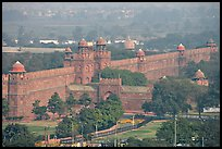 Red fort wall. New Delhi, India (color)