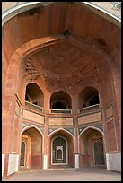 Entrance to main mausoleum, Humayun's tomb. New Delhi, India ( color)