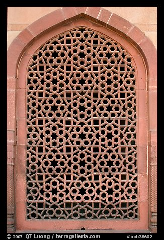 Picture Photo Screened Marble Window Humayun S Tomb New