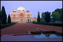 Main mausoleum at dusk, Humayun's tomb,. New Delhi, India ( color)