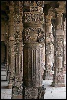 Column details, Quwwat-ul-Islam mosque, Qutb complex. New Delhi, India ( color)