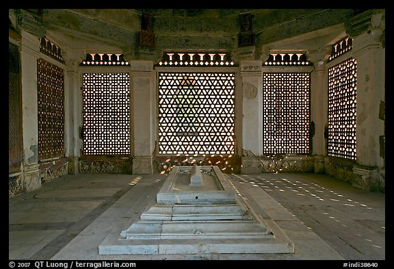 Tomb of Imam Zamin, Qutb complex. New Delhi, India (color)