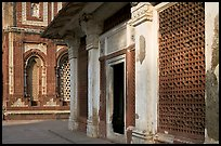 Detail of tomb of Imam Zamin and  Alai Darweza gate, Qutb complex. New Delhi, India ( color)