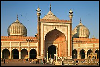 Jama Masjid, India's largest mosque, morning. New Delhi, India ( color)