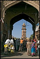 Gate leading to clock tower and Sardar Market. Jodhpur, Rajasthan, India ( color)