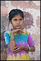 Young girl. Jodhpur, Rajasthan, India (color)