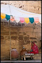 Beverage vendor inside fort. Jodhpur, Rajasthan, India ( color)