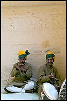 Musicians, Mehrangarh Fort. Jodhpur, Rajasthan, India ( color)