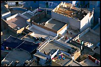 Rooftop terraces seen from above. Jodhpur, Rajasthan, India ( color)