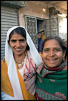 Smiling women in old street. Jodhpur, Rajasthan, India