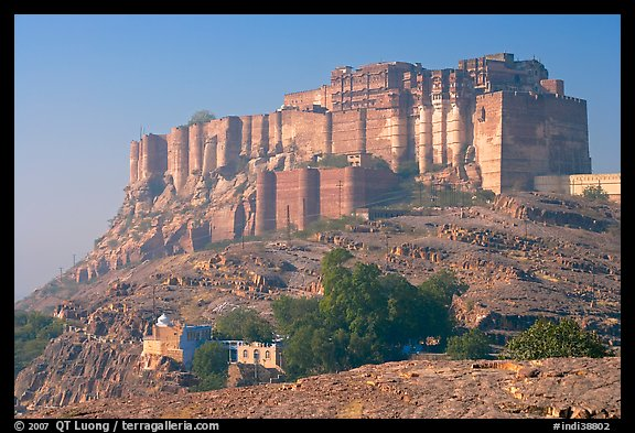 Mehrangarh Fort. Jodhpur, Rajasthan, India (color)
