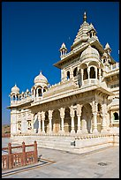 White marble memorial, Jaswant Thada. Jodhpur, Rajasthan, India ( color)