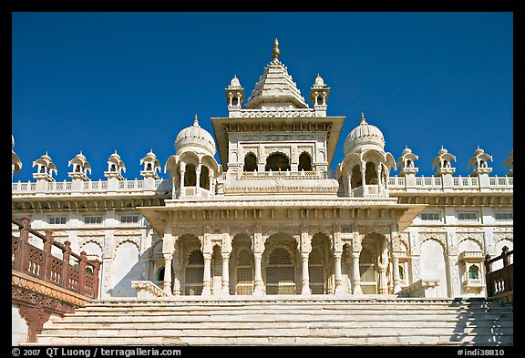 Picture Photo White Marble Mausoleum Jaswant Thada