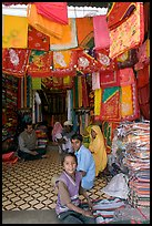 Shop selling colorful Rajasthani fabrics, Sardar market. Jodhpur, Rajasthan, India ( color)