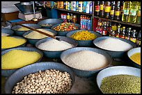Grains and other groceries, Sardar market. Jodhpur, Rajasthan, India (color)
