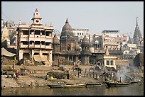 Manikarnika Ghat, the main burning ghat. Varanasi, Uttar Pradesh, India