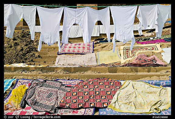 Laundry. Varanasi, Uttar Pradesh, India (color)