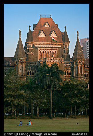Oval Maiden and High Court. Mumbai, Maharashtra, India