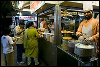 Panipuri stall, Chowpatty Beach. Mumbai, Maharashtra, India ( color)