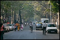 Tree-lined street, Colaba. Mumbai, Maharashtra, India (color)