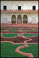 Anguri Bagh garden in Mugha style, Agra Fort. Agra, Uttar Pradesh, India ( color)
