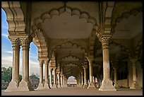 Diwan-i-Am (hall of public audiences),  Agra Fort. Agra, Uttar Pradesh, India (color)