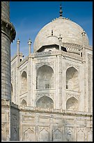 Base, dome, and minaret, Taj Mahal. Agra, Uttar Pradesh, India ( color)