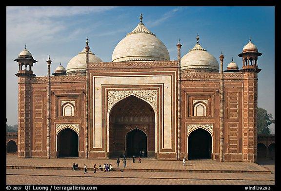 Picture Photo Taj Mahal Mosque Agra Uttar Pradesh India