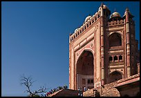 Buland Darwaza, 54m-high victory gate, Dargah mosque. Fatehpur Sikri, Uttar Pradesh, India ( color)