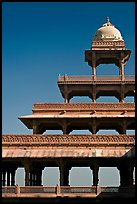 Stories reducing on the Panch Mahal. Fatehpur Sikri, Uttar Pradesh, India (color)