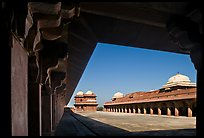 Lower Haramsara. Fatehpur Sikri, Uttar Pradesh, India (color)
