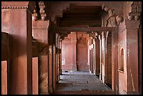Corridor. Fatehpur Sikri, Uttar Pradesh, India (color)