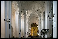 Se Cathedral interior in Corinthian style, Old Goa. Goa, India