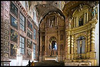 Murals and altars, Church of St Francis of Assisi, Old Goa. Goa, India
