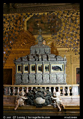 Tomb of St Francis Xavier, Basilica of Bom Jesus, Old Goa. Goa, India (color)