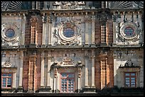 Facade detail, Basilica of Bom Jesus, Old Goa. Goa, India