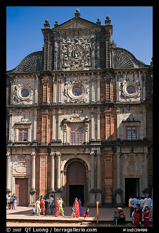 Basilica of Bom Jesus, Old Goa. Goa, India